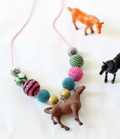 Adorable Pony Beaded DIY Necklace