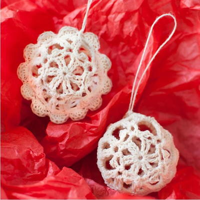 Lovely Lace Crochet Ball Ornaments