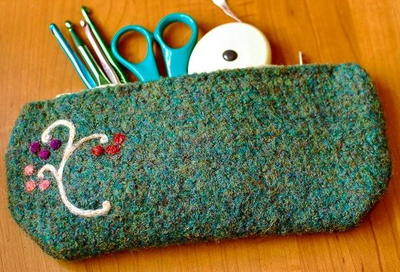 Very Vintage Felted DIY Pencil Case