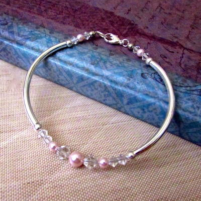 Pink Pearl Beaded DIY Bracelet