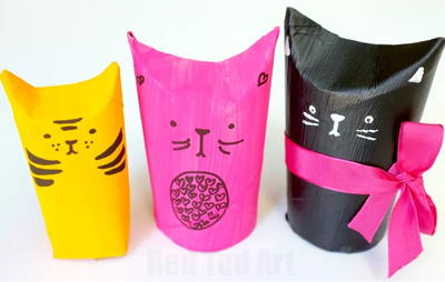 Kitty Cat Toilet Paper Roll Gift Boxes