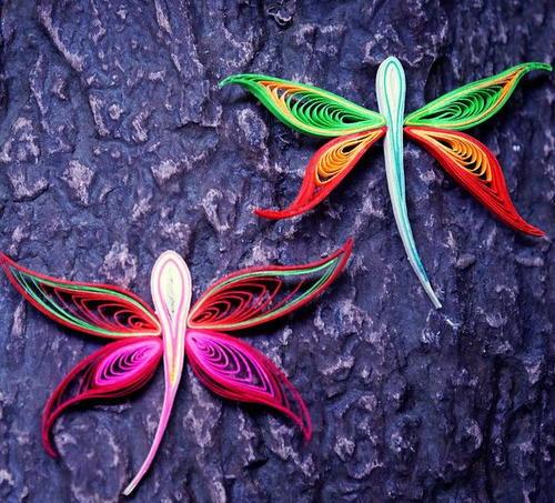 Dazzling Dragonfly Quilling Designs Allfreepapercrafts Com