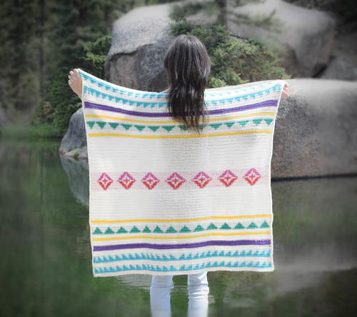Modern Summer Camp Blanket
