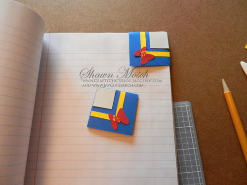 Donald Duck Inspired Corner Bookmarks