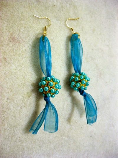 Ravishing Beaded Ribbon DIY Earrings
