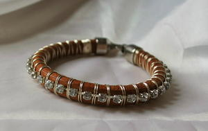 Wire Wrapped Leather DIY Bracelet