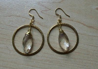 Sparkling Crystal Wire Earrings