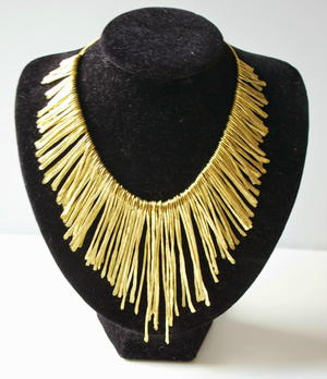 Knockoff Tribal Fringe DIY Necklace