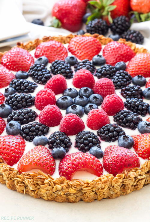 Berries and Yogurt Breakfast Tart