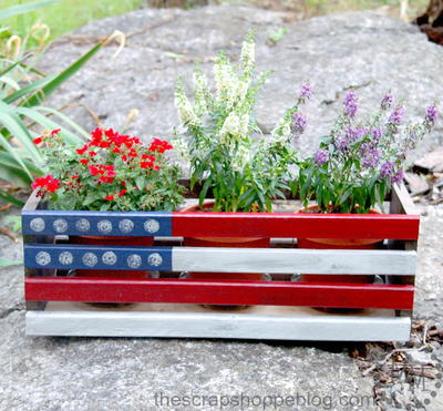 DIY Flag Planter