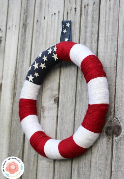 Easy DIY Patriotic Wreath
