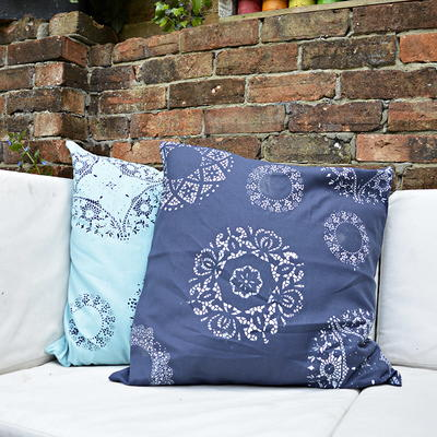 Doily Stenciled Pillows