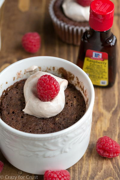 Chocolate Raspberry Mug Cake Recipe
