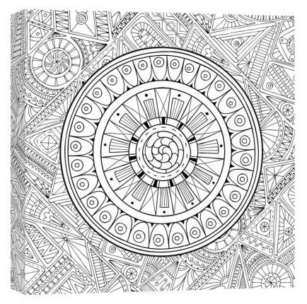 It is a graphic of Magic coloring canvas prints