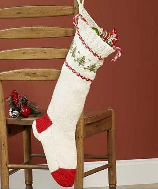 Knit Stocking for Christmas AllFreeChristmasCrafts