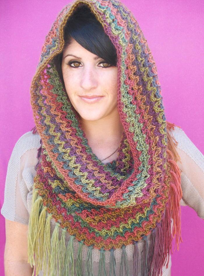 mountain cowl neck scarf allfreecrochet