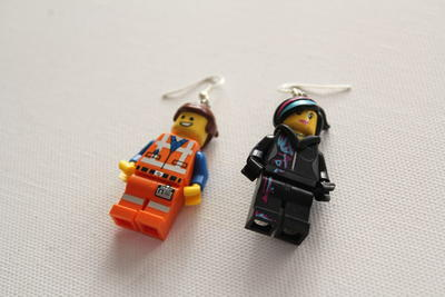 Lego Movie Inspired DIY Earrings