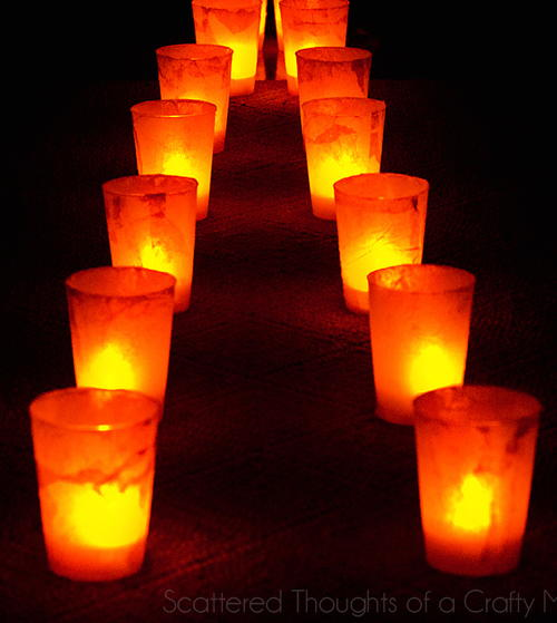 Sidewalk DIY Luminaries