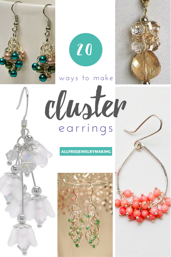 How to Make Cluster Bead Earrings: 20 Ways