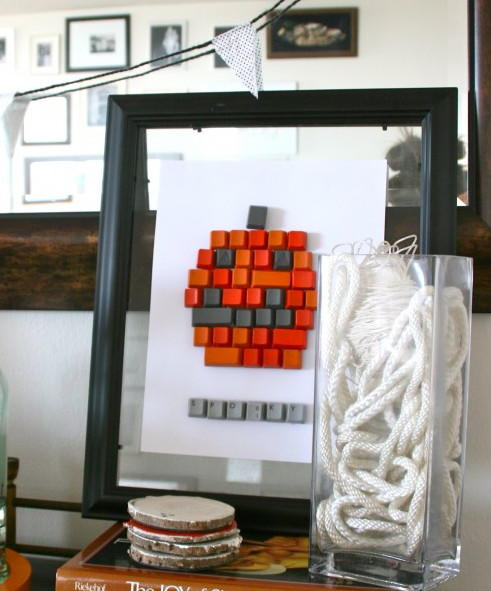 Keyboard Pumpkin Wall Art