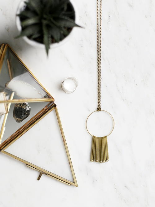 Rustic DIY Circle Necklace