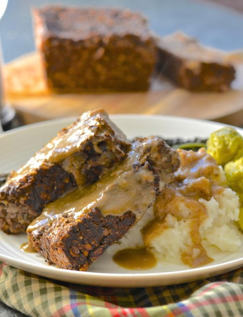 Vegan Meatloaf with Gravy Recipe