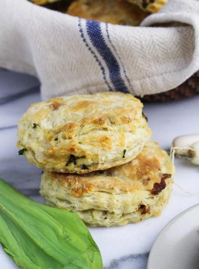 Ramp Bacon and Cheddar Biscuit Recipe