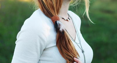 Bohemian Leather DIY Hair Accessory