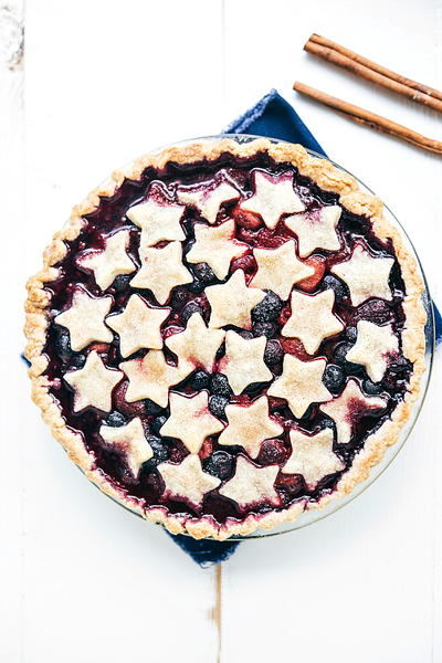 Patriotic Triple Berry Pie