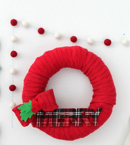 Holiday Sweater DIY Wreath