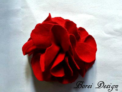 DIY Recycled T-shirt Flower Brooch