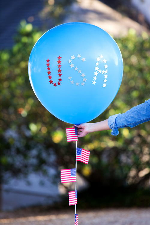 Patriotic 4th of July Balloons