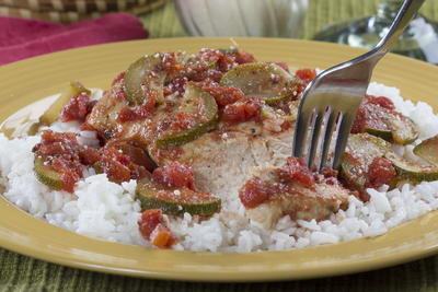 Chicken with Zucchini and Tomatoes
