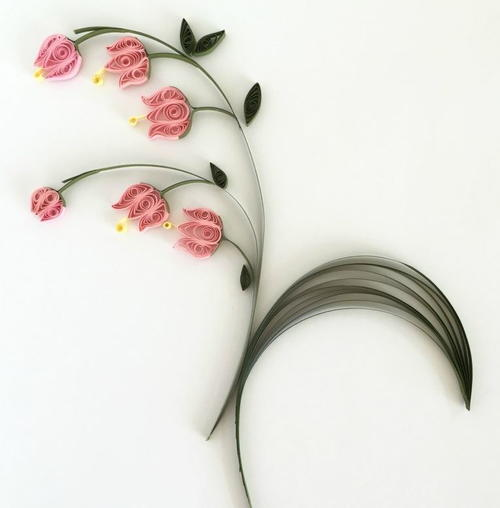 Lily of the Valley Quilled Flowers