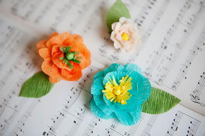 Detailed Crepe Paper Flowers