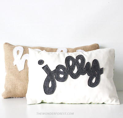 Jolly No-Sew Pillows