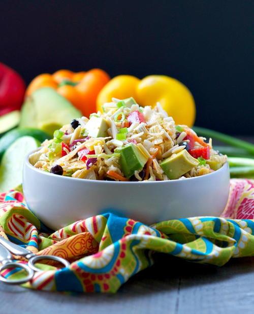 Southwestern Chicken Ramen Salad
