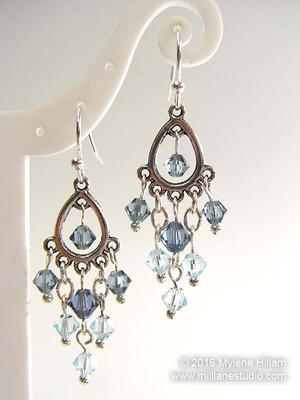 Ice Crystal Earrings