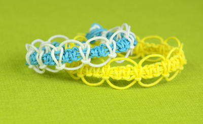 Macrame Loops DIY Friendship Bracelets