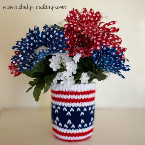 Patriotic Mason Jar Cozy