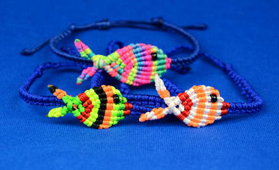 Fish Out of Water Macrame Bracelet