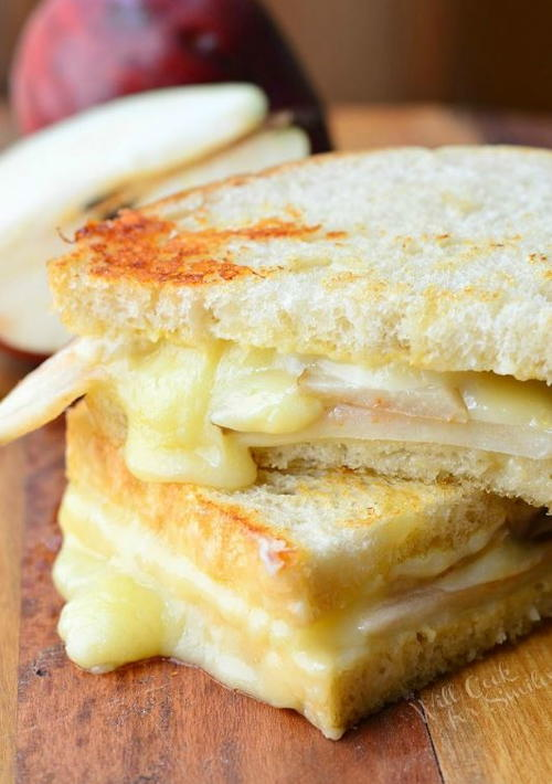 Dijon Havarti and Pear Grilled Cheese