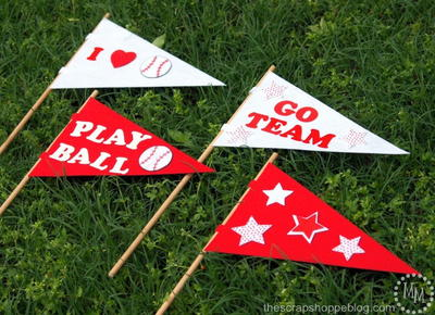 DIY Baseball Pennants