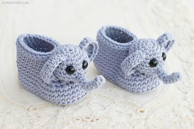 Elephant Booties Crochet Pattern
