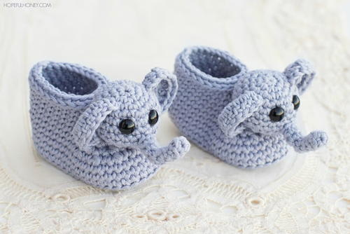 Elephant Booties Crochet Pattern Allfreeholidaycrafts