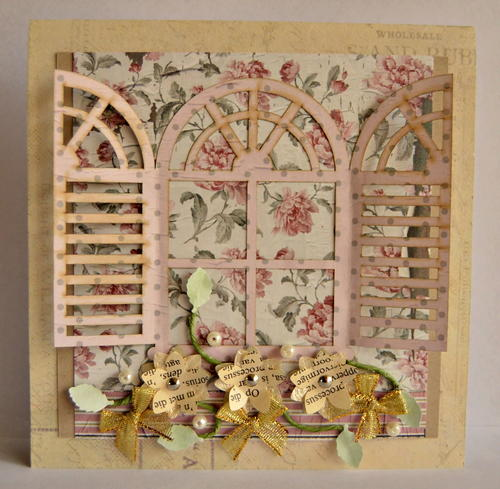 Vintage French Shutter Handmade Card