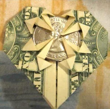 moneyorigamiheart allfreepapercraftscom