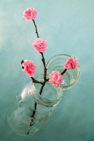 Cherry Blossom Tissue Paper Decoration