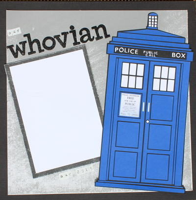 Doctor Who Scrapbook Page