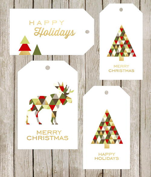 Geometric DIY Gift Tags